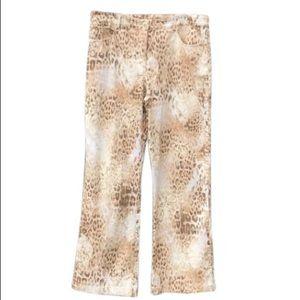 St. John Sport by Marie Gray cheetah print pants